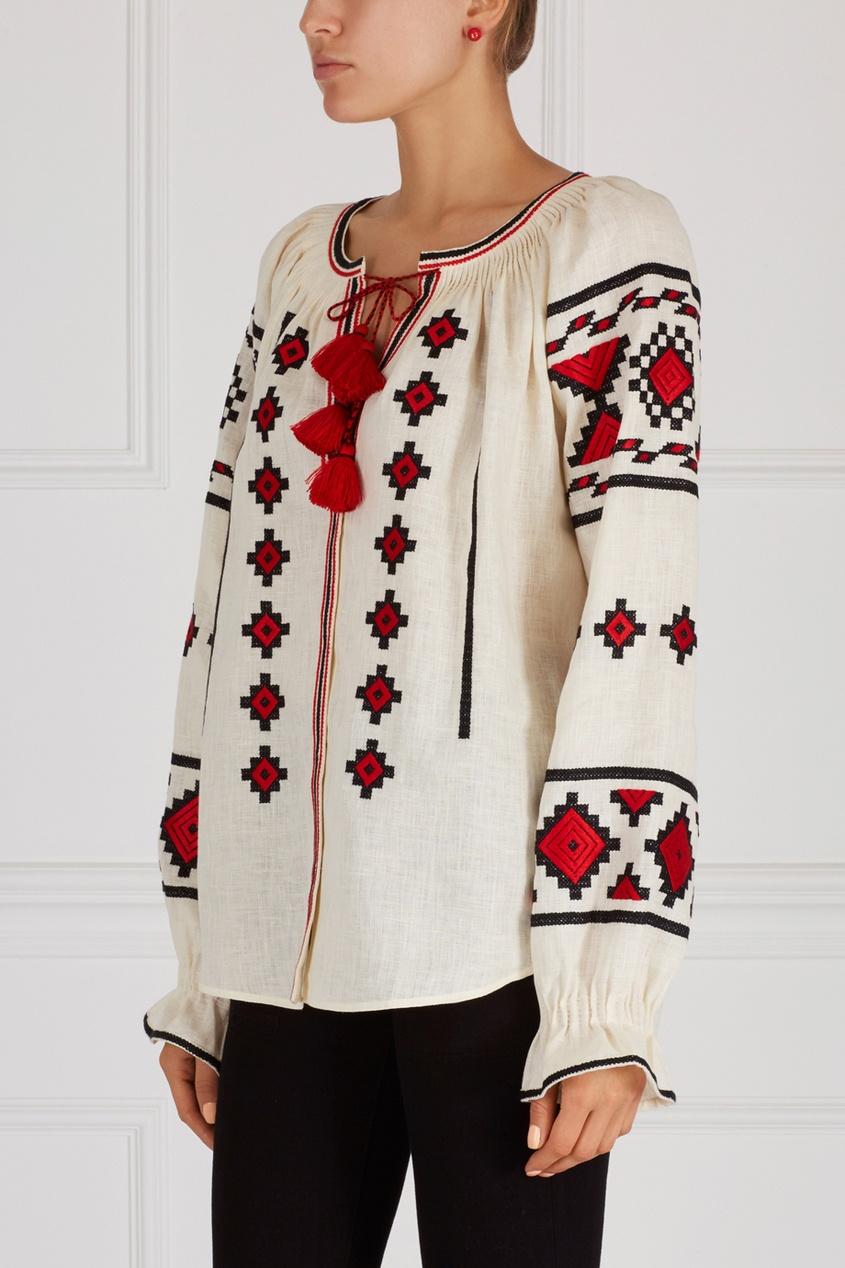 Фото - Блузку из льна от Vita Kin белого цвета