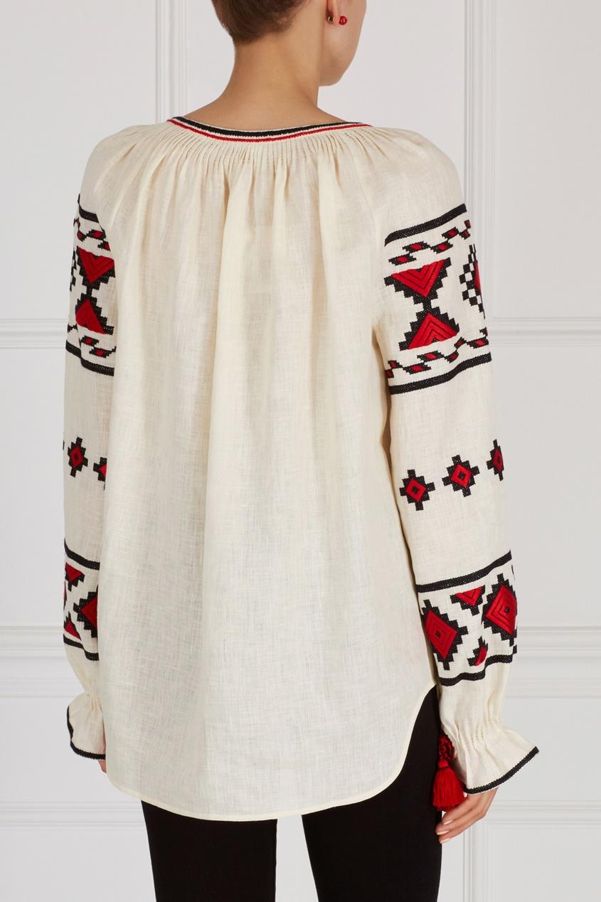 Фото 2 - Блузку из льна от Vita Kin белого цвета