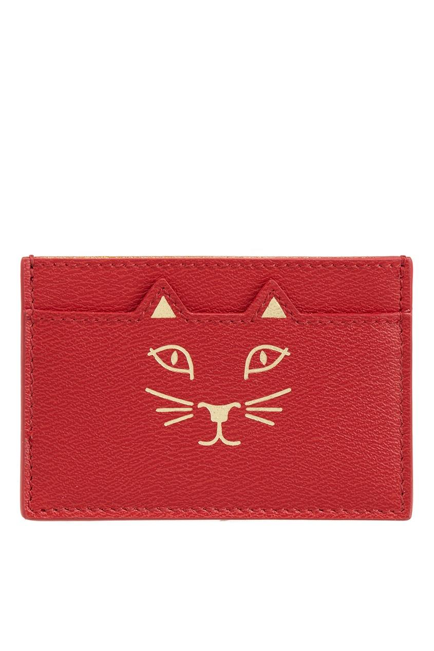 Кожаная визитница Feline Card Holder