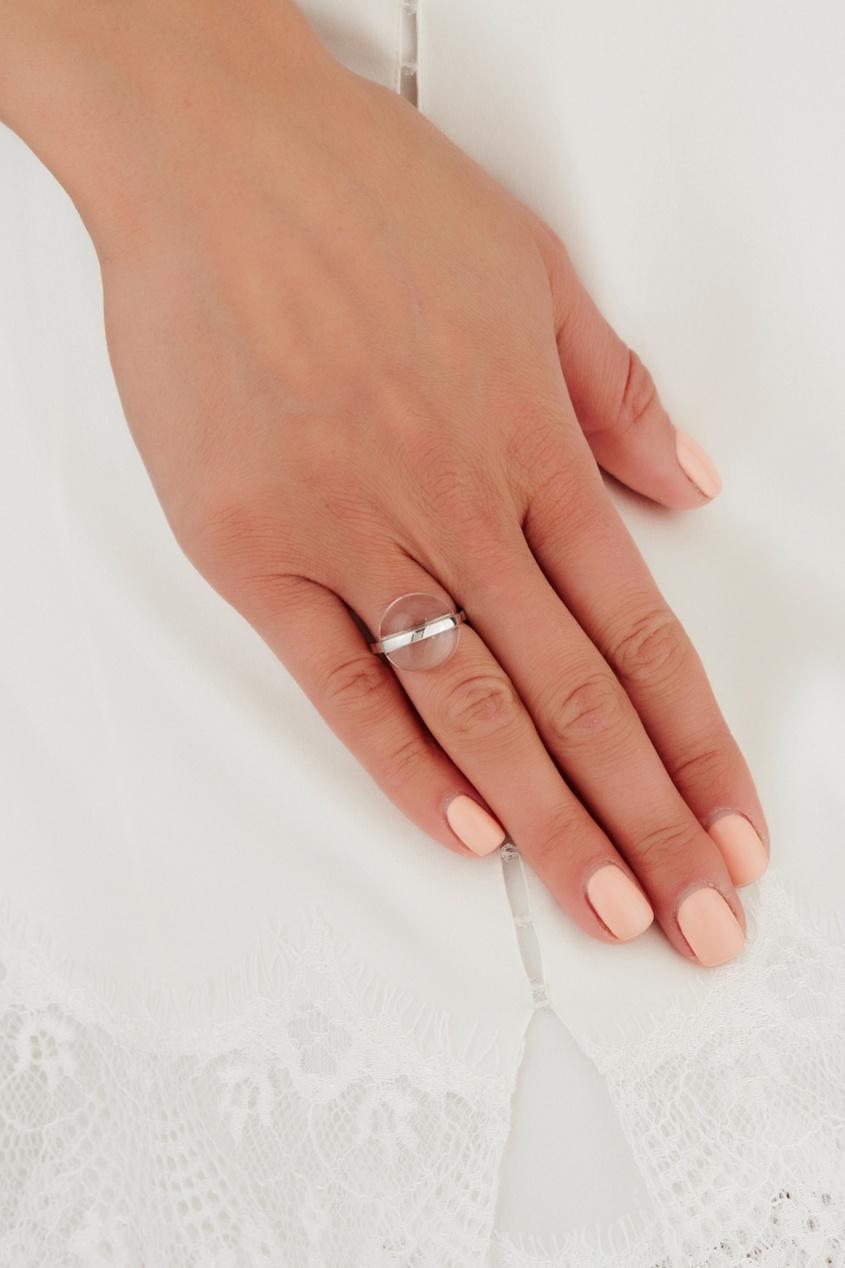 Серебряное кольцо с горным хрусталем Origin фото