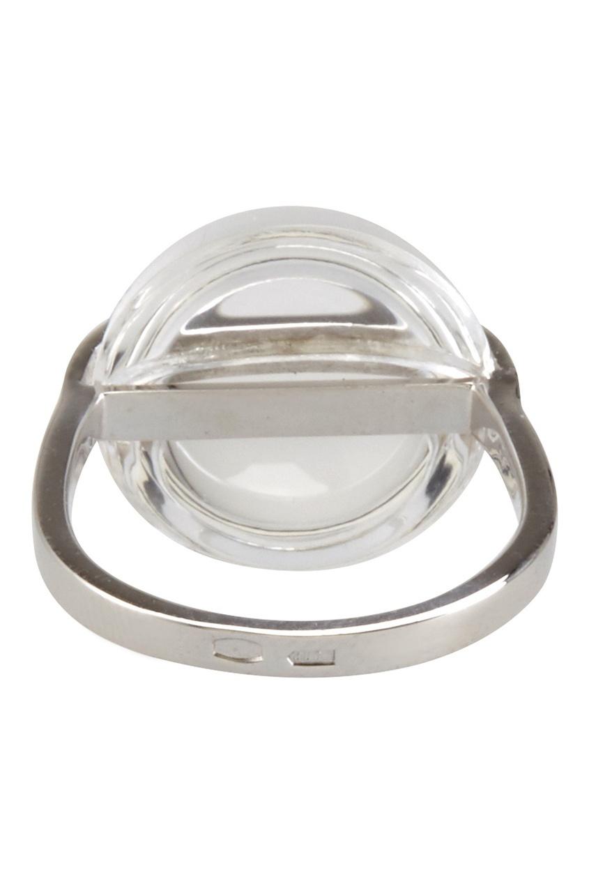 Фото 3 - Серебряное кольцо с горным хрусталем Origin серебрянного цвета