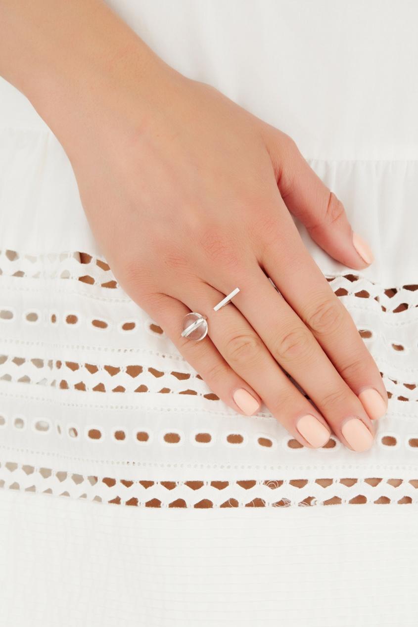 Открытое серебряное кольцо с горным хрусталем Origin