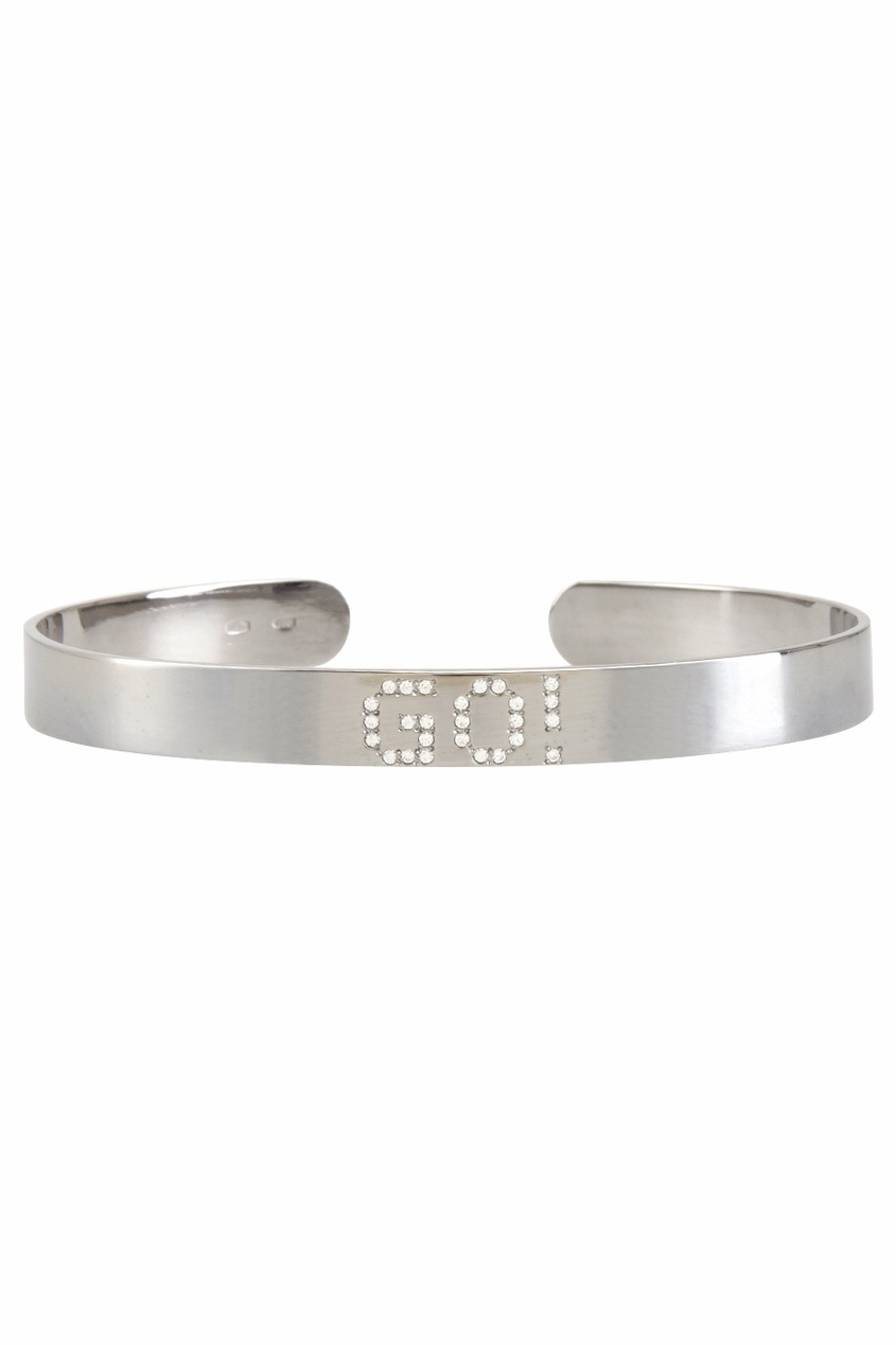 Фото 2 - Серебряный браслет с фианитами Go! серебрянного цвета