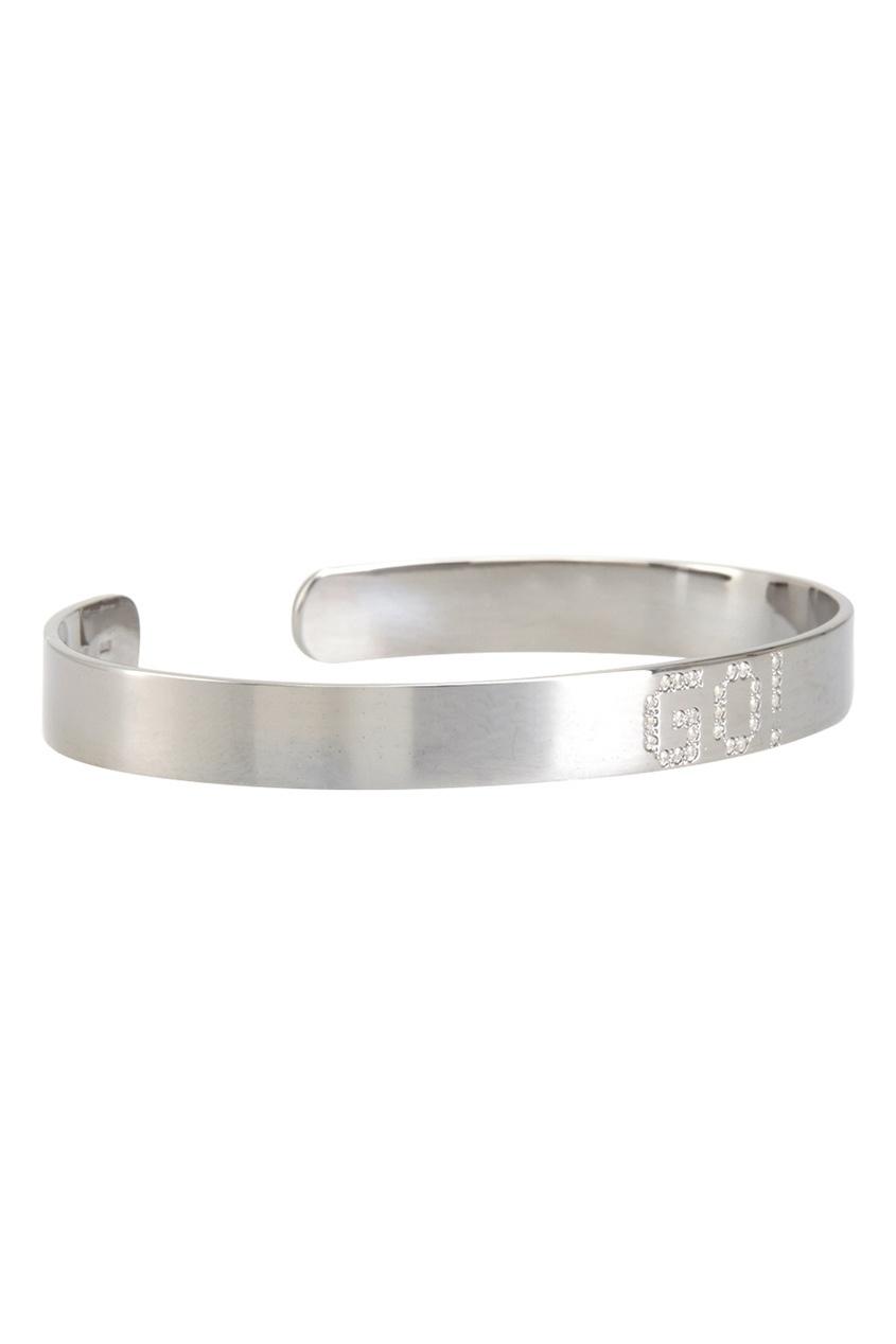 Фото 3 - Серебряный браслет с фианитами Go! серебрянного цвета