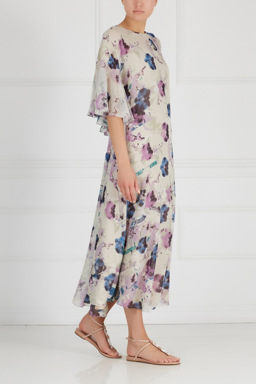 Фото - Шелковое платье от Chapurin цвет multicolor