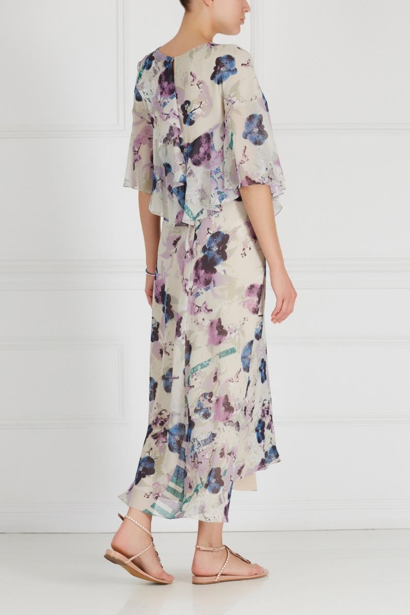 Фото 2 - Шелковое платье от Chapurin цвет multicolor