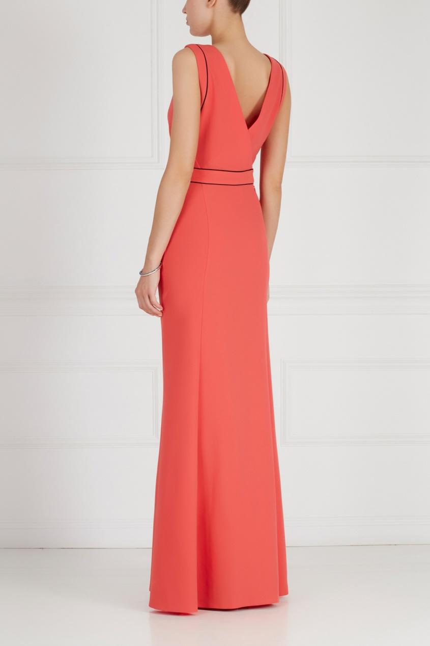 Фото 2 - Платье в пол от Chapurin красного цвета