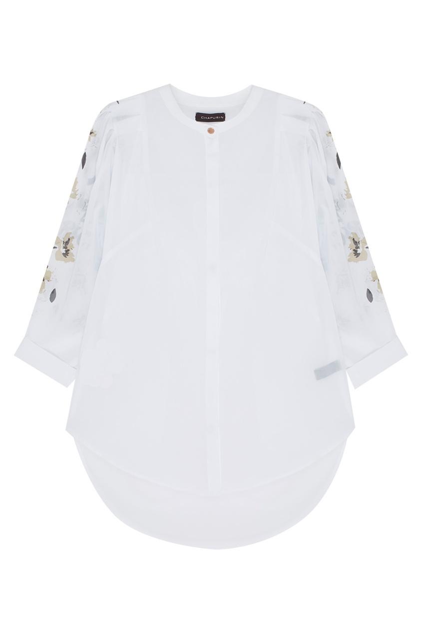 Фото 5 - Хлопковая блузка от Chapurin белого цвета
