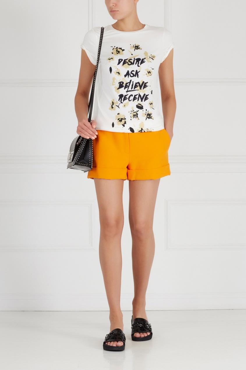 Фото - Однотонные шорты от Chapurin оранжевого цвета