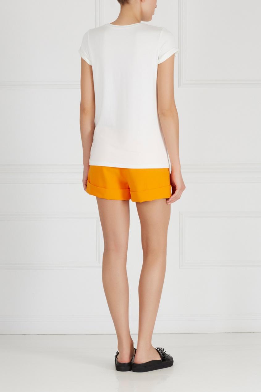 Фото 2 - Однотонные шорты от Chapurin оранжевого цвета