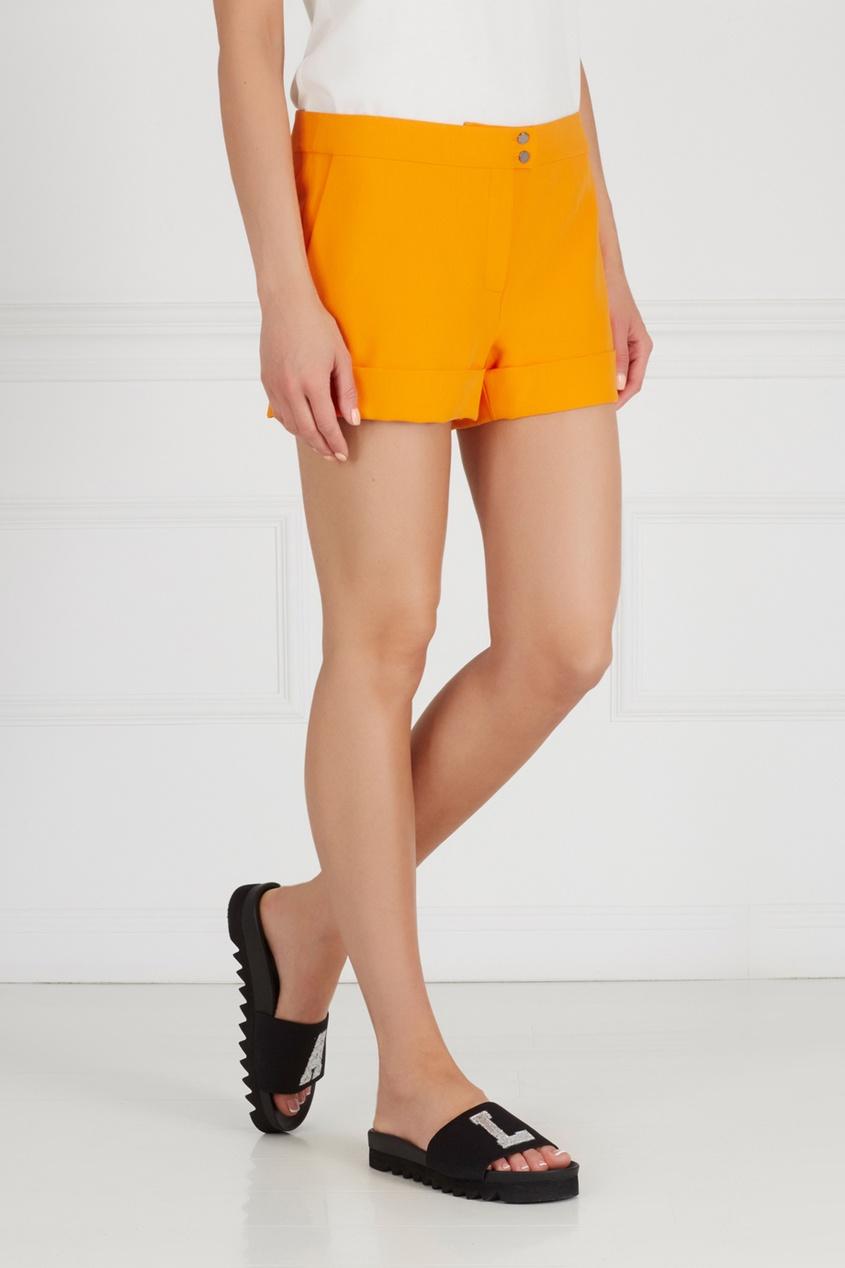 Фото 3 - Однотонные шорты от Chapurin оранжевого цвета