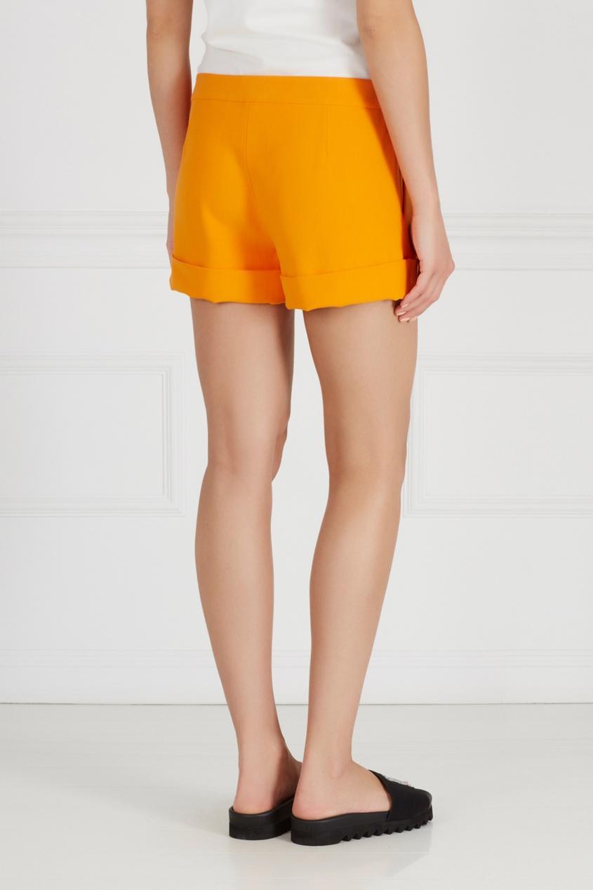 Фото 4 - Однотонные шорты от Chapurin оранжевого цвета