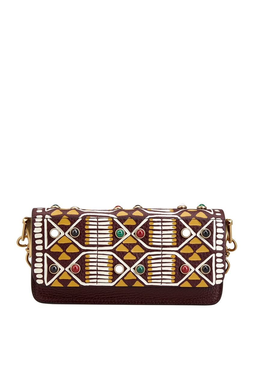 Кожаная сумка с кабошонами от AIZEL