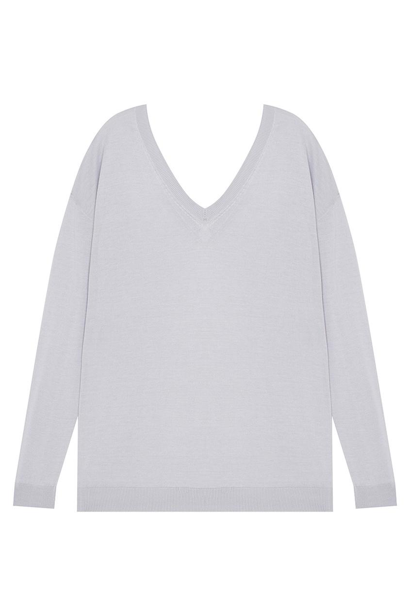 Пуловер из шелка и хлопка