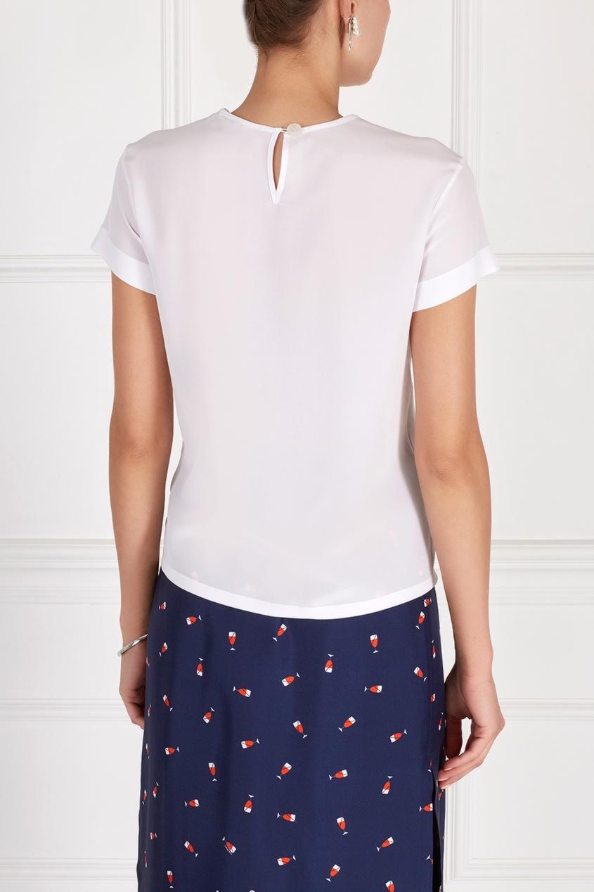 Фото 4 - Шелковая блузка от Alexander Terekhov белого цвета