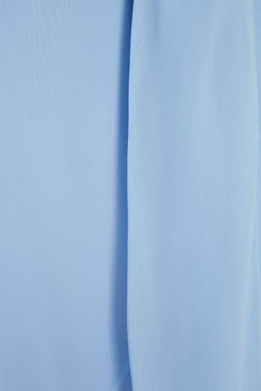Фото 2 - Шелковое платье от Alexander Terekhov голубого цвета