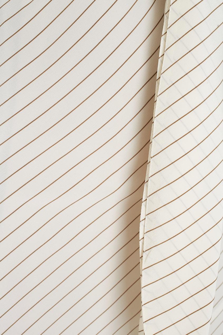 Фото 2 - Шелковое платье от Alexander Terekhov белого цвета