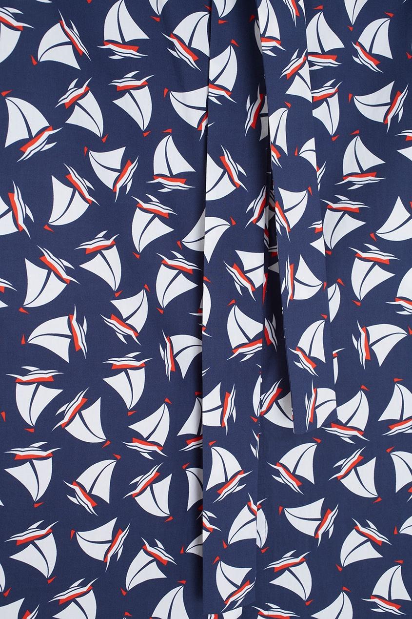 Фото 2 - Хлопковое платье от Alexander Terekhov синего цвета