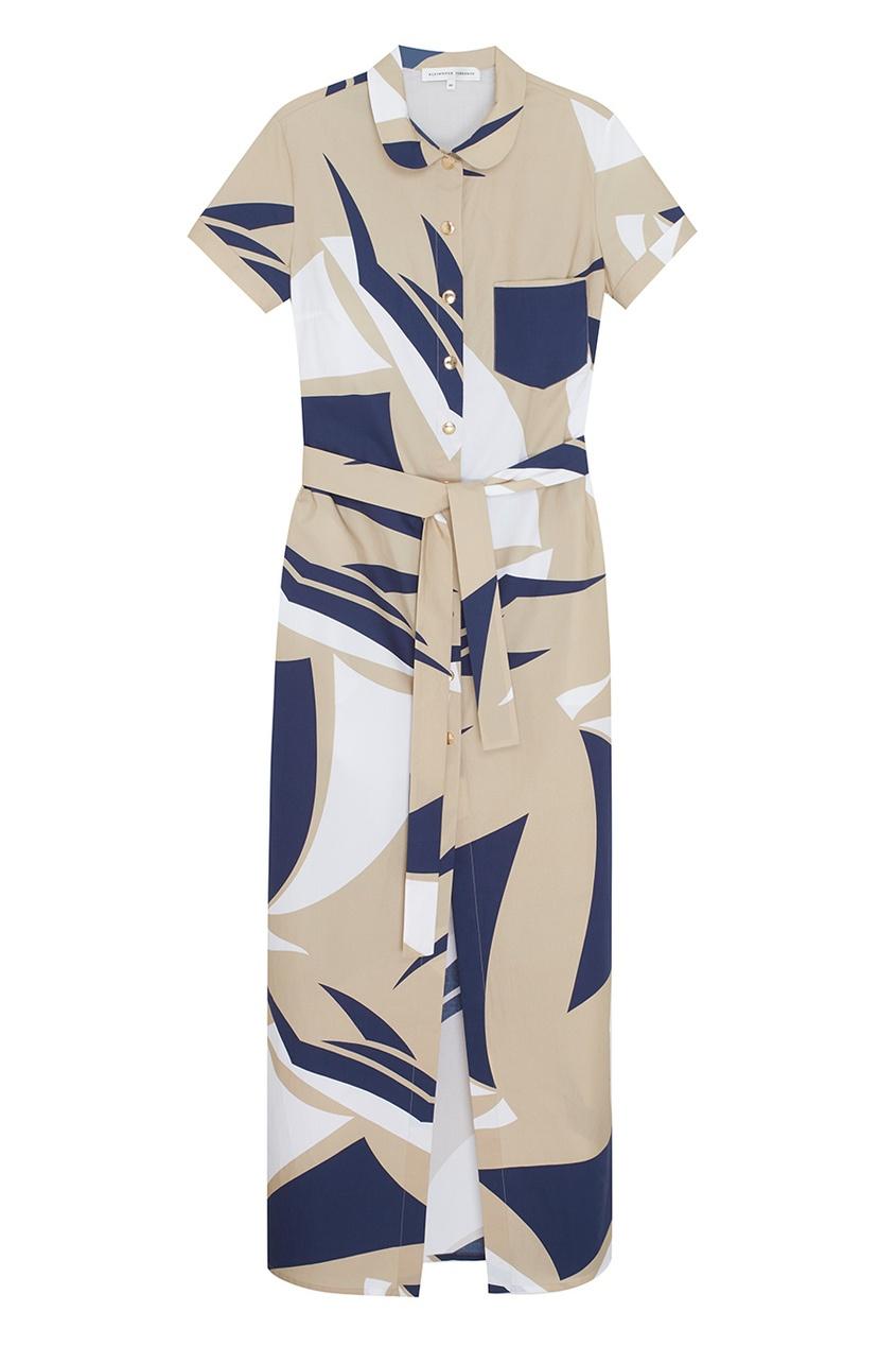 Фото - Хлопковое платье от Alexander Terekhov бежевого цвета