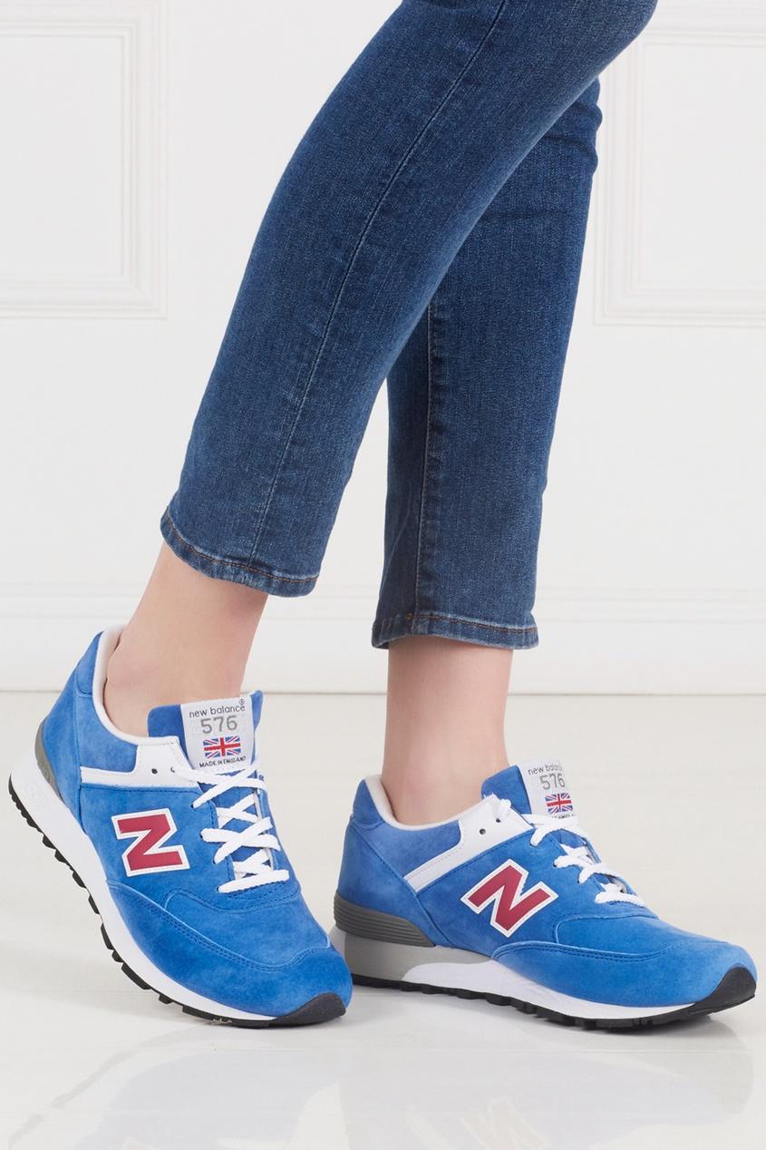 Замшевые кроссовки 576