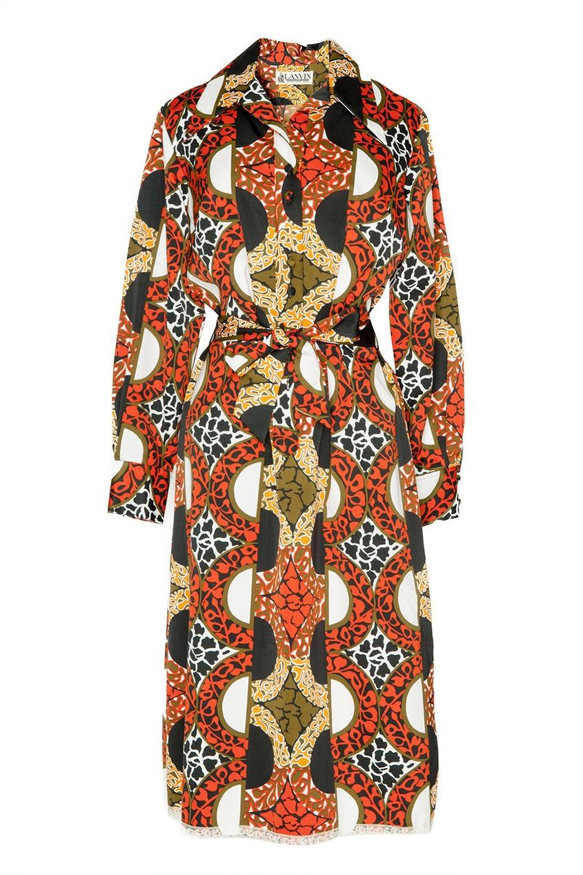 Винтажное платье с принтом (70-е гг.)