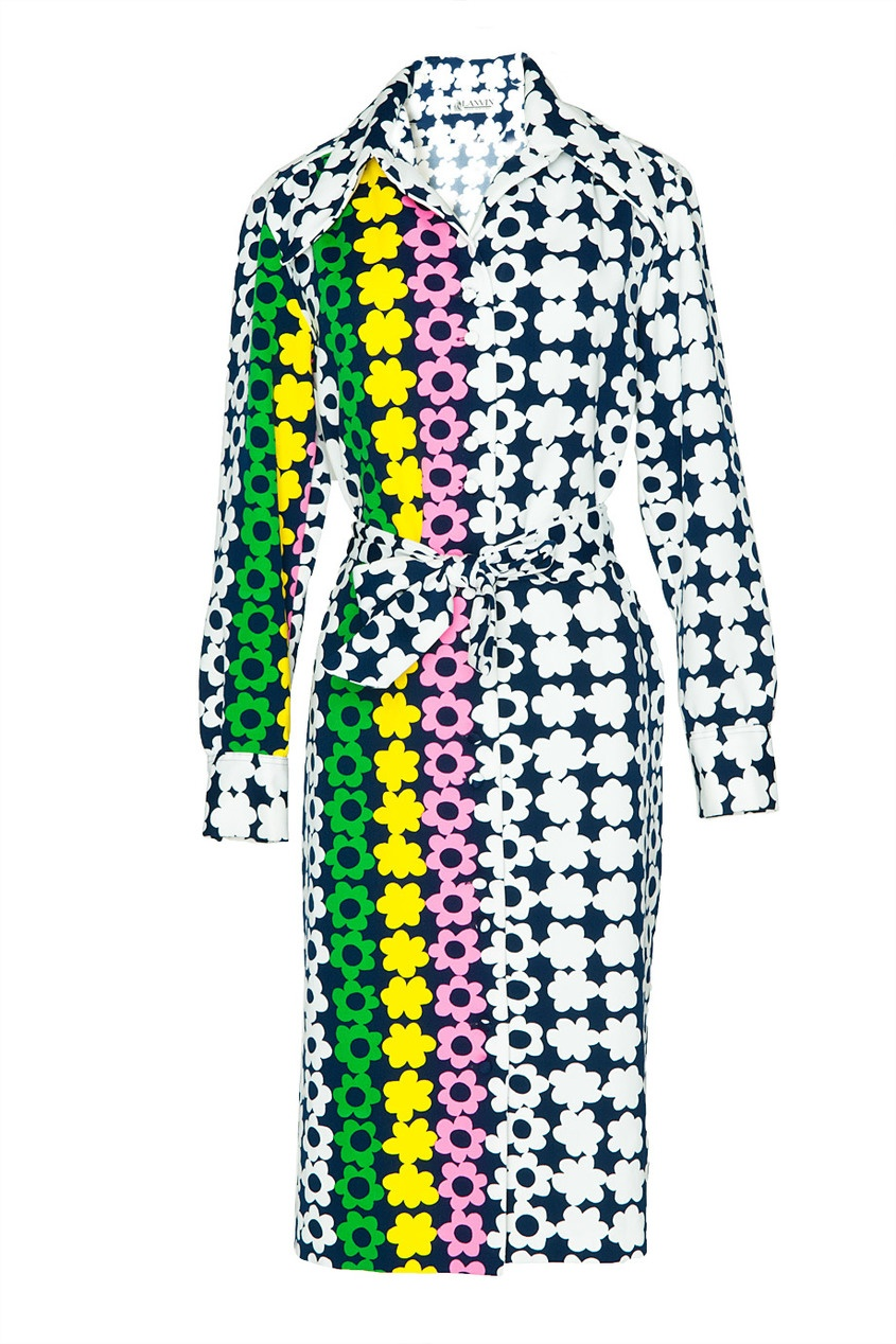 Винтажное платье с цветочным принтом (70-е гг.)
