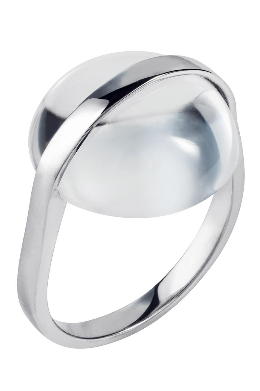 Фото 4 - Серебряное кольцо с горным хрусталем Origin серебрянного цвета