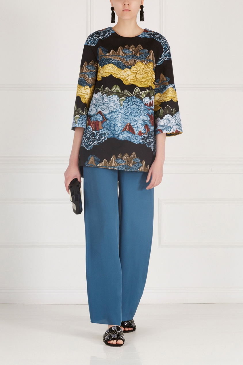 Фото 3 - Хлопковая блузка от Alena Akhmadullina черного цвета