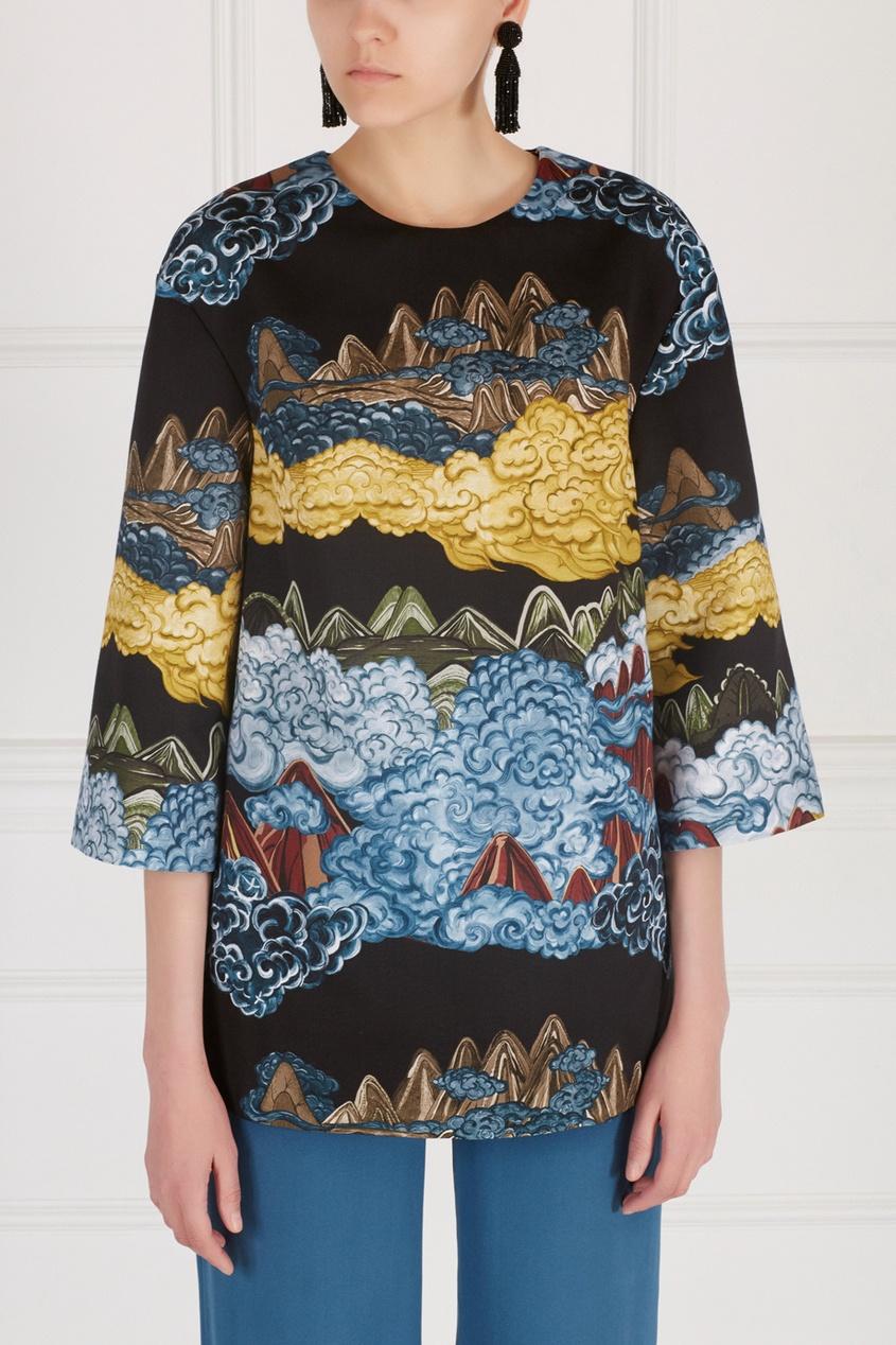 Фото 6 - Хлопковая блузка от Alena Akhmadullina черного цвета