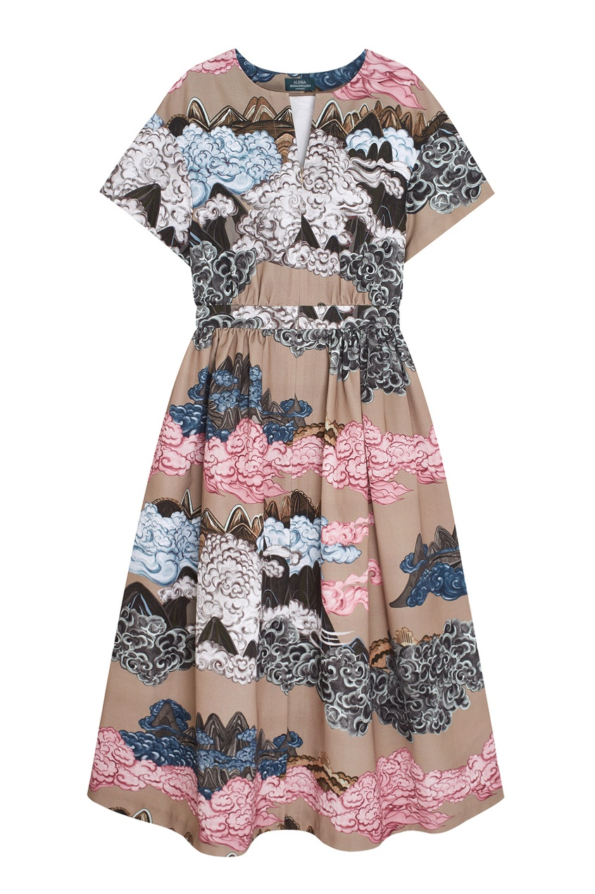Фото - Хлопковое платье от Alena Akhmadullina бежевого цвета