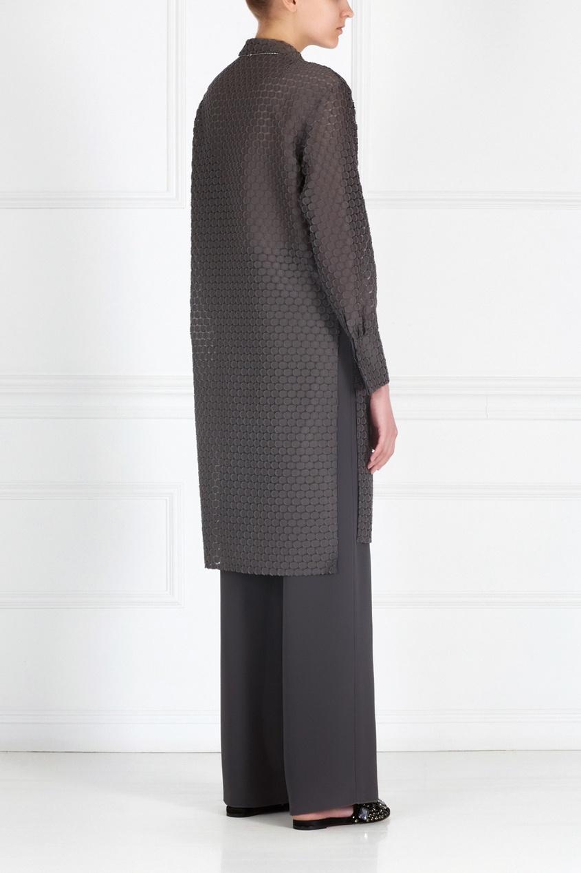 Фото 4 - Хлопковая блузка от Alena Akhmadullina серого цвета