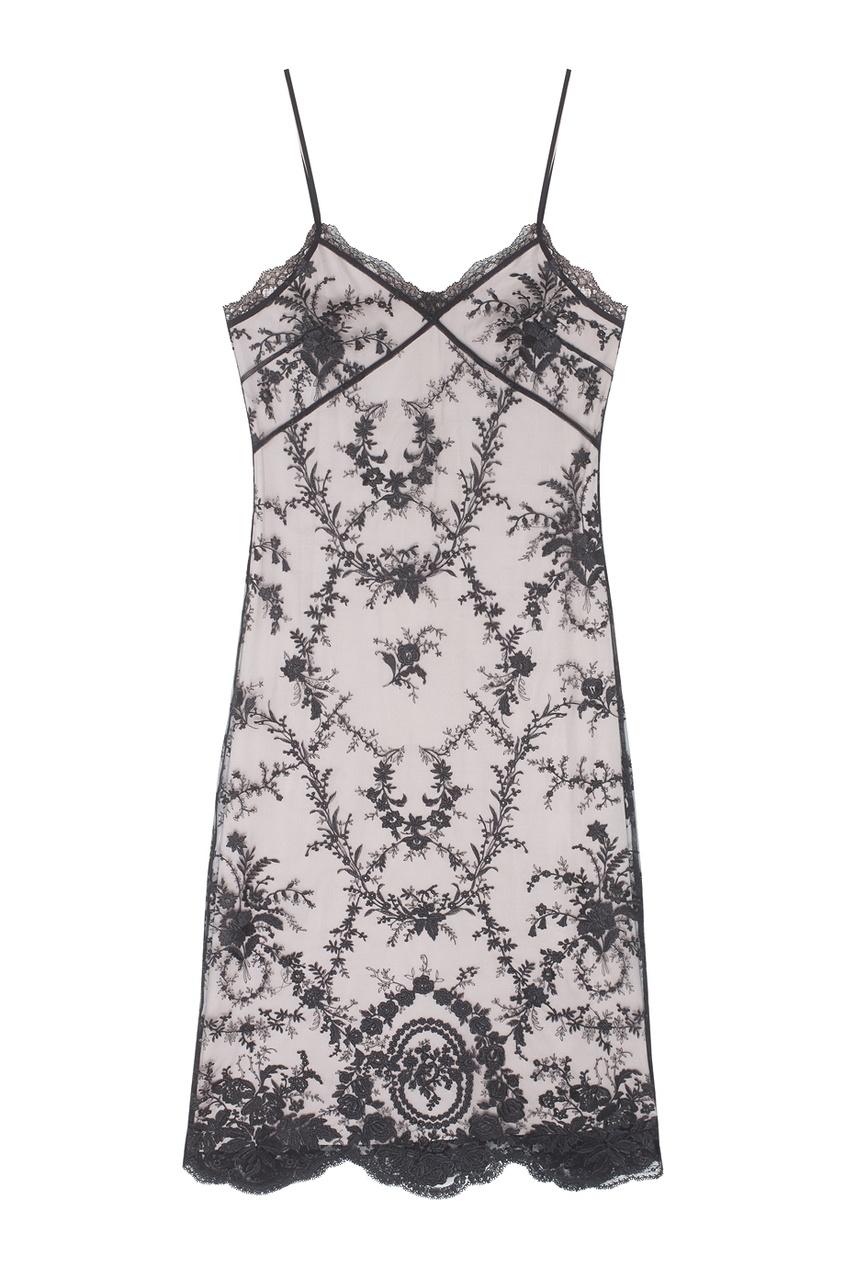 Кружевное платье-комбинация