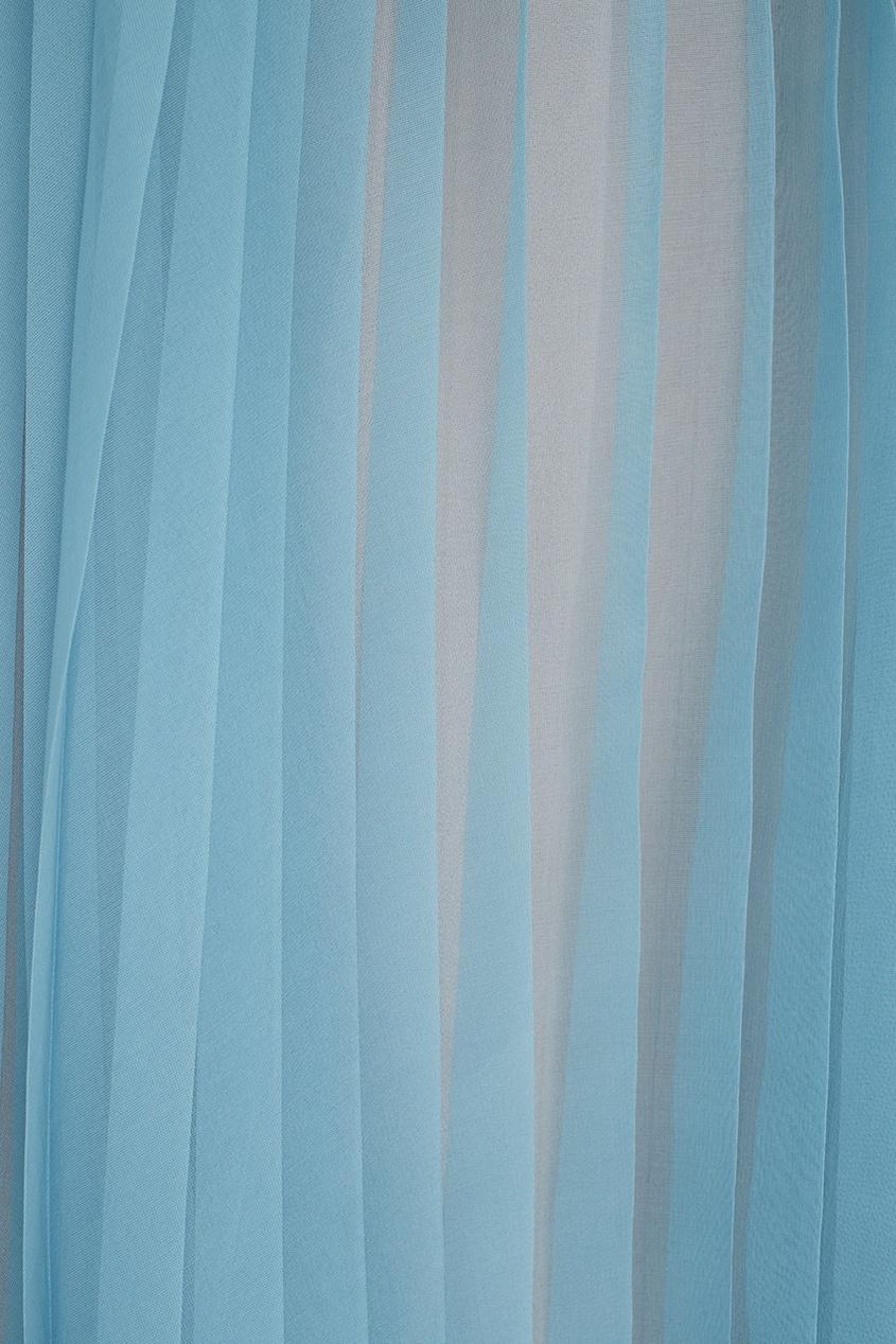 Фото 6 - Шелковая юбка от Gucci голубого цвета