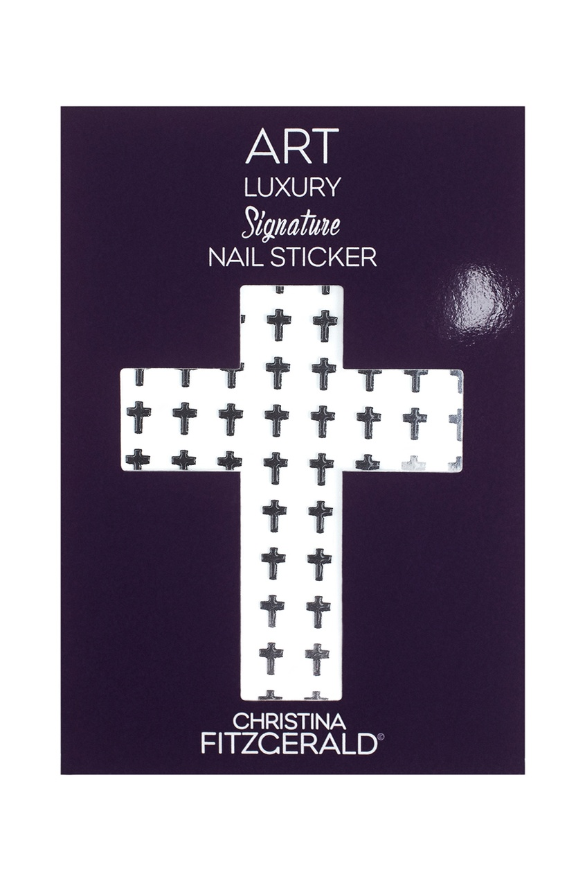 Арт-стикеры для ногтей Art Luxury Signature Nail Sticker «Black Cross», 96 шт.