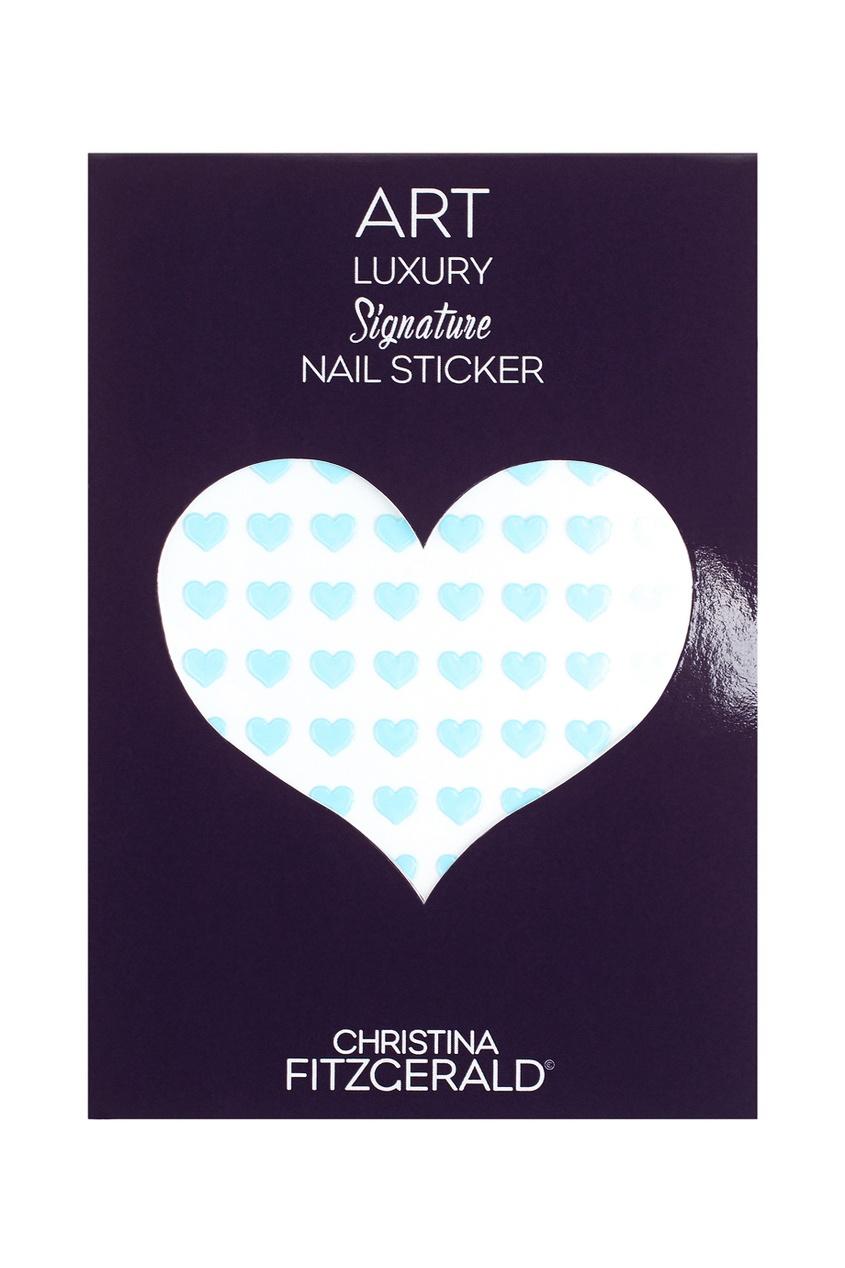 Арт-стикеры для ногтей Art Luxury Signature Nail Sticker «Blue Heart», 96 шт.