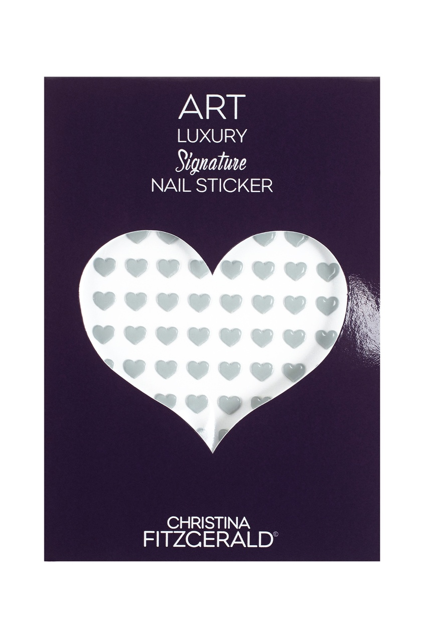 Арт-стикеры для ногтей Art Luxury Signature Nail Sticker «Gray Heart», 96 шт.