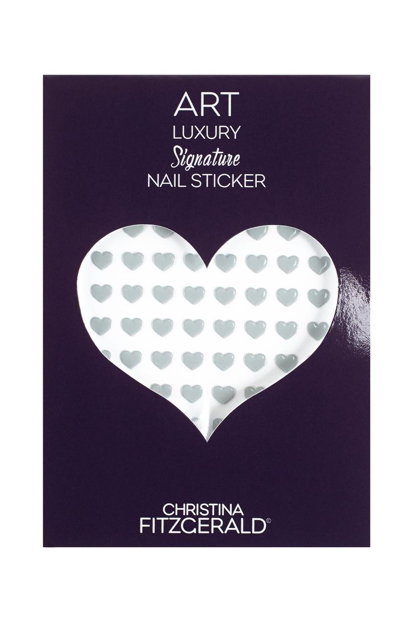 Christina Fitzgerald Арт-стикеры для ногтей Art Luxury Signature Nail Sticker «Gray Heart», 96 шт. 2pcs new water transfer light gray white marble stone rock nail wraps sticker manicure decals nail foil sticker art sexy