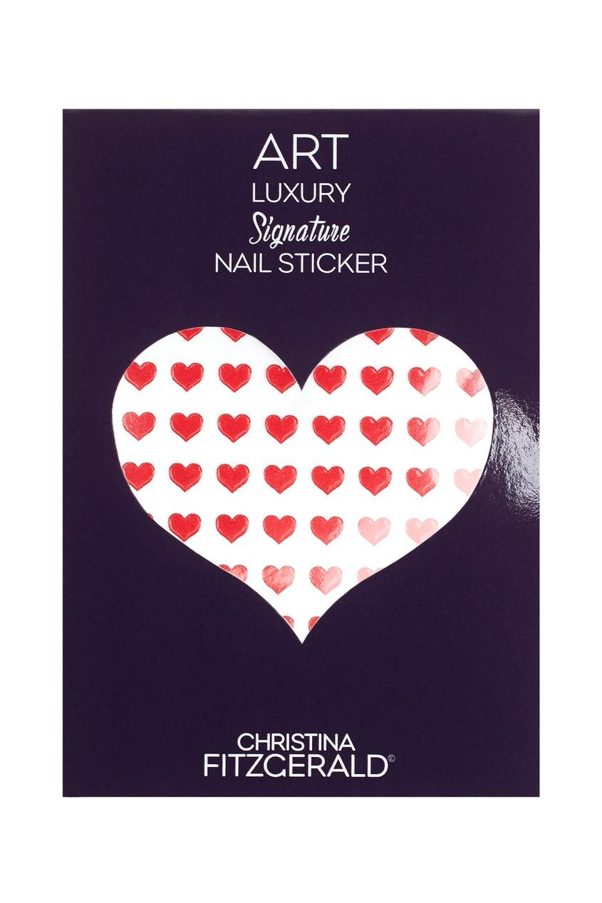 Арт-стикеры для ногтей Art Luxury Signature Nail Sticker «Red Heart», 96 шт.