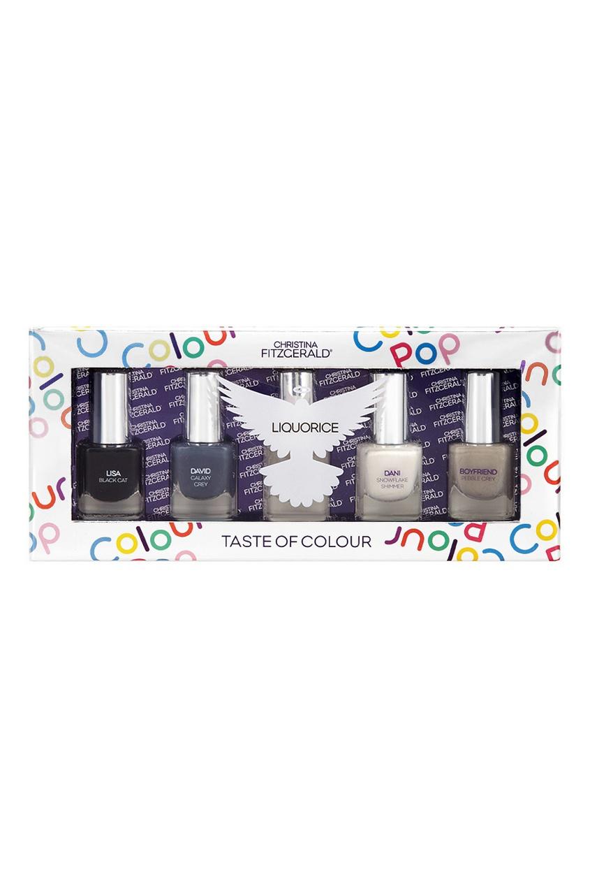 Набор лаков для ногтей Colour Pop «Лакричный», 5x5ml