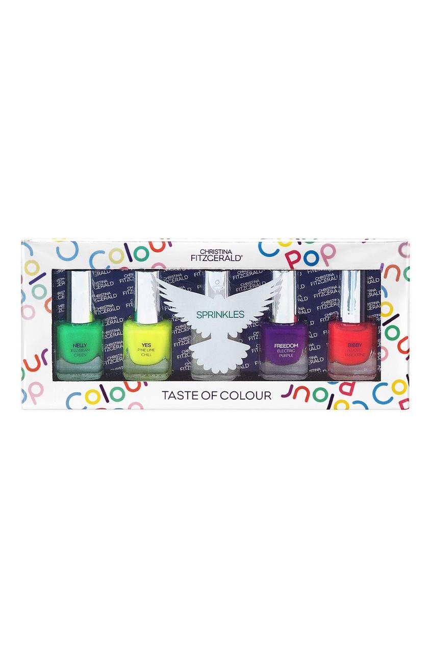 Набор лаков для ногтей Colour Pop «Разноцветный дождик», 5x5ml