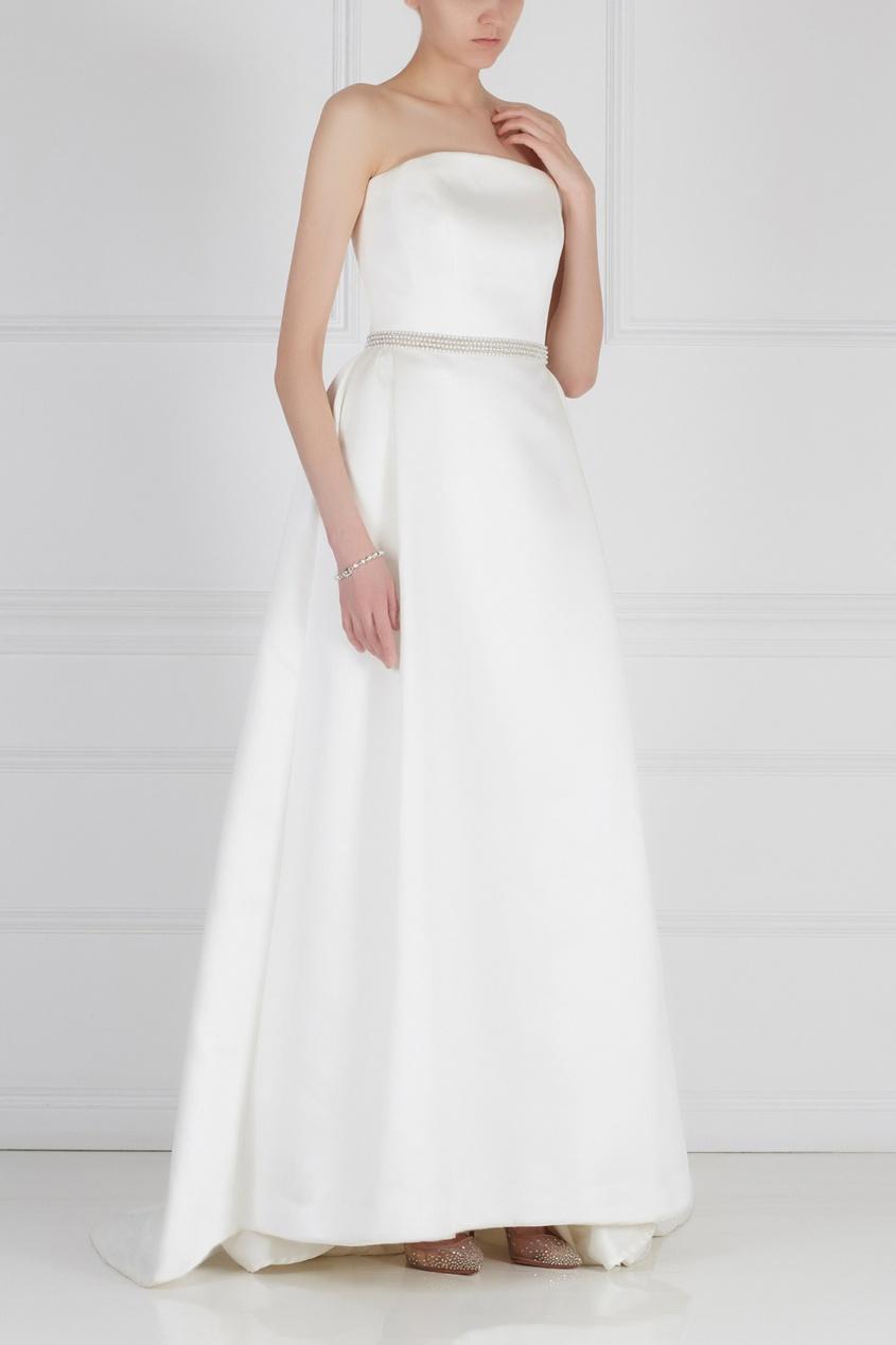 Платье-бюстье с кристаллами
