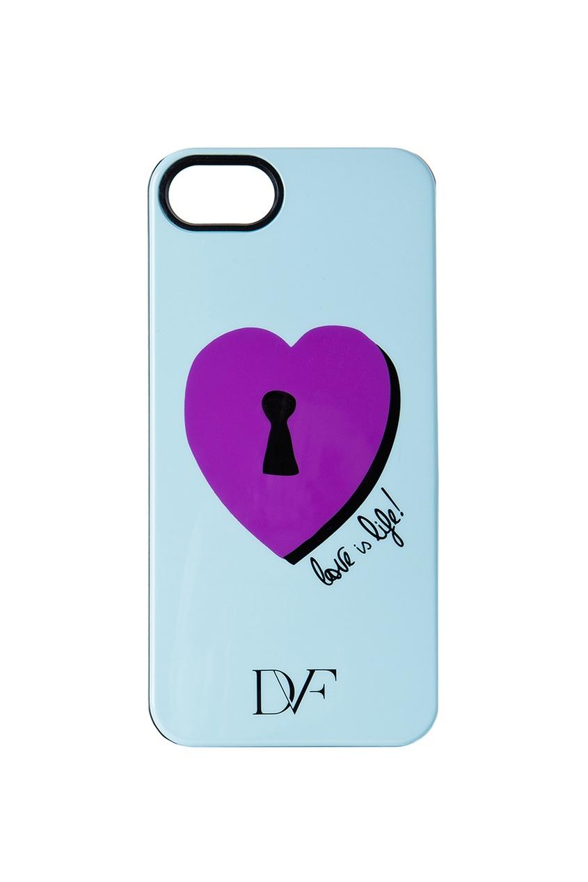 Чехол для iPhone 5 Lock Heart Blue