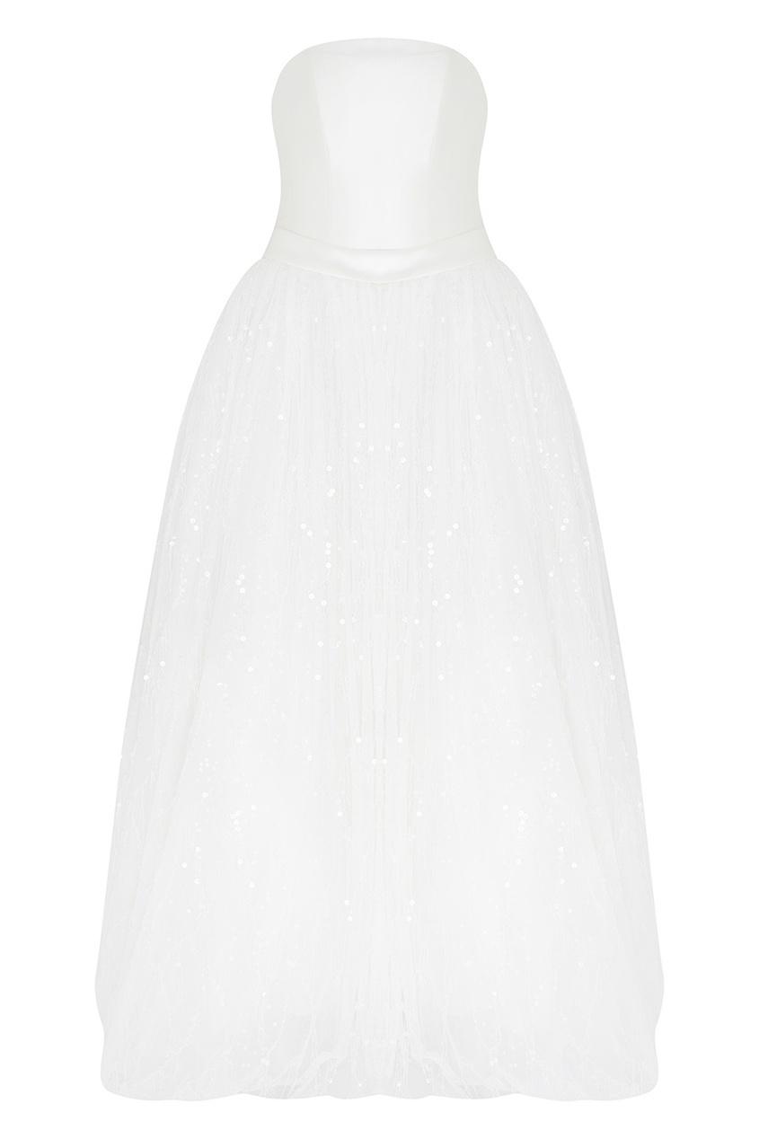 Платье-бюстье с пайетками