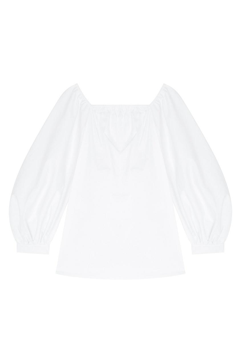 Фото - Хлопковая блузка белая от Flambe белого цвета
