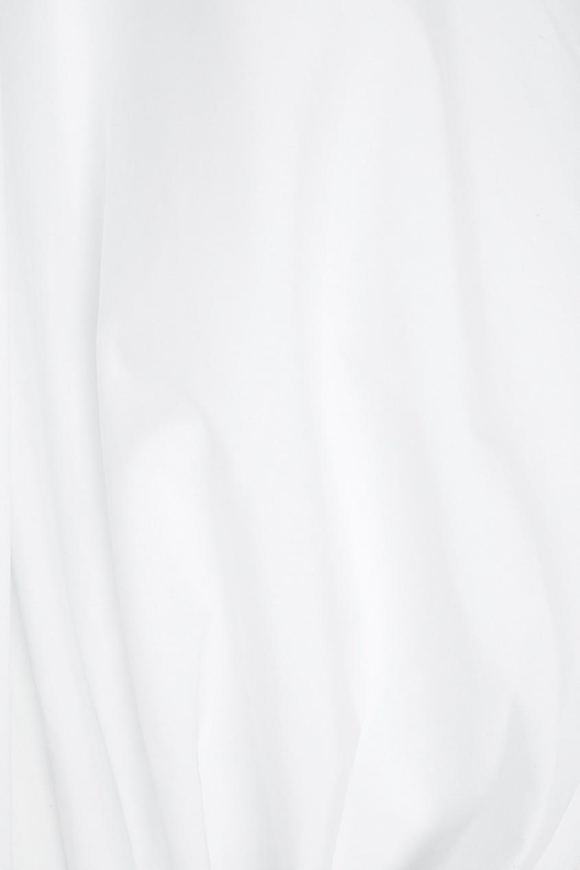 Фото 2 - Хлопковая блузка белая от Flambe белого цвета