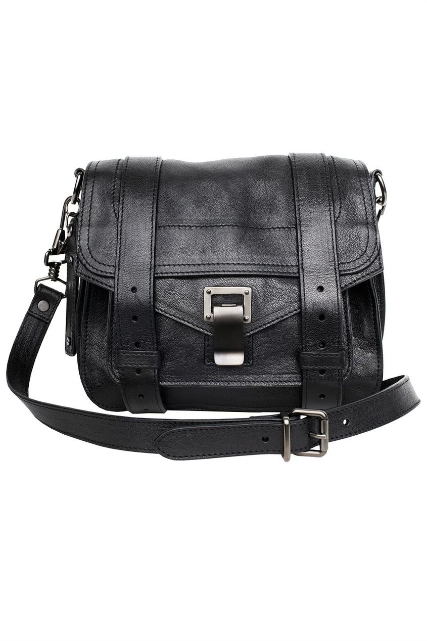 Маленькая черная сумка PS1 на длинном ремешке