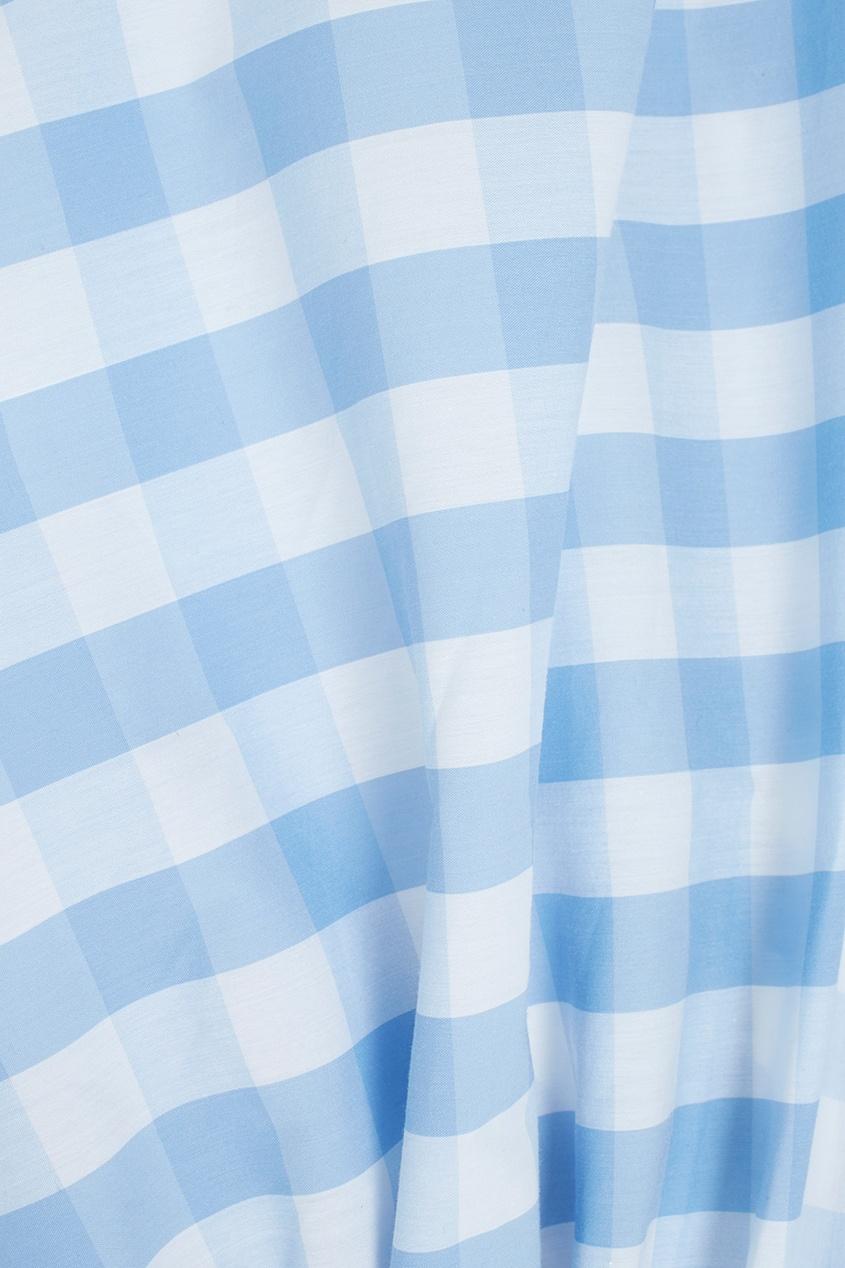 Фото 2 - Хлопковая блузка от Flambe голубого цвета