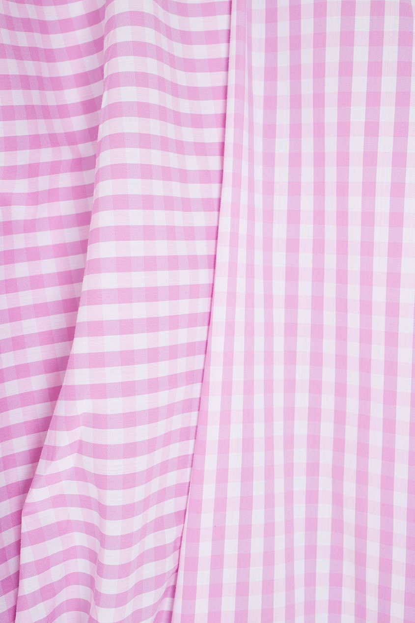Фото 2 - Хлопковая блузка от Flambe розового цвета
