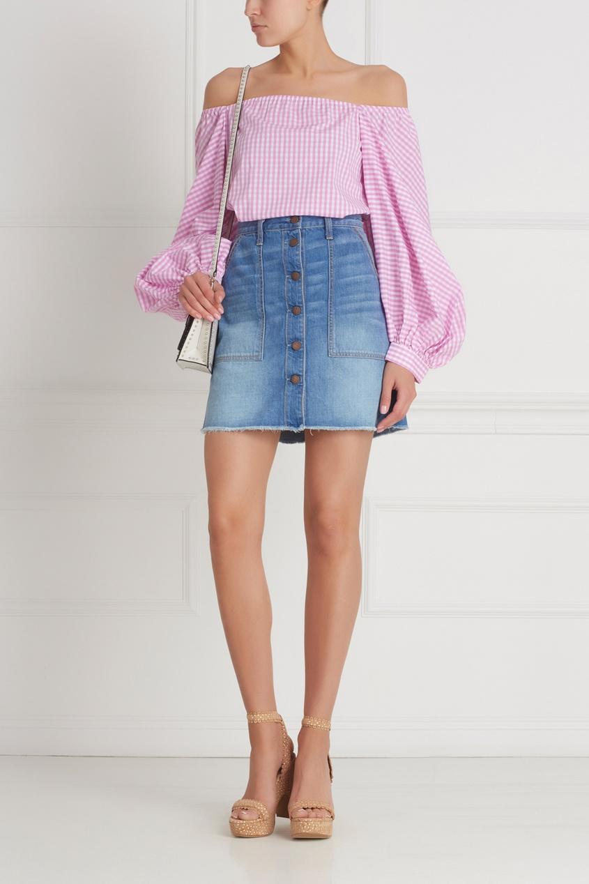 Фото 5 - Хлопковая блузка от Flambe розового цвета
