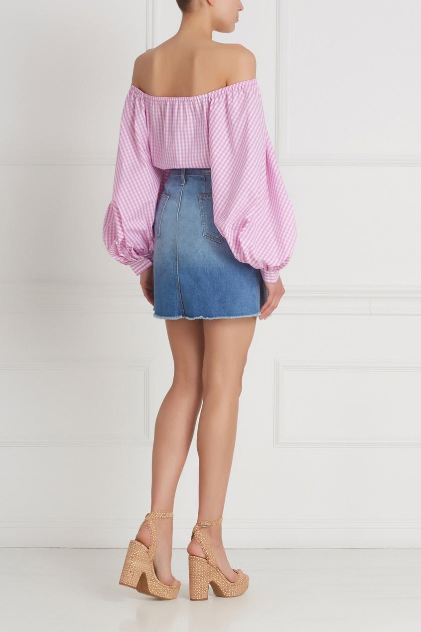 Фото 6 - Хлопковая блузка от Flambe розового цвета
